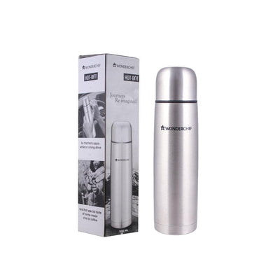 Hot-Bot Double Wall Stainless Steel Vacuum Insulated Hot and Cold Flask, 500 ml-Flasks