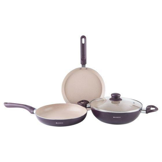 Wonderchef Milano Set-Burgundy