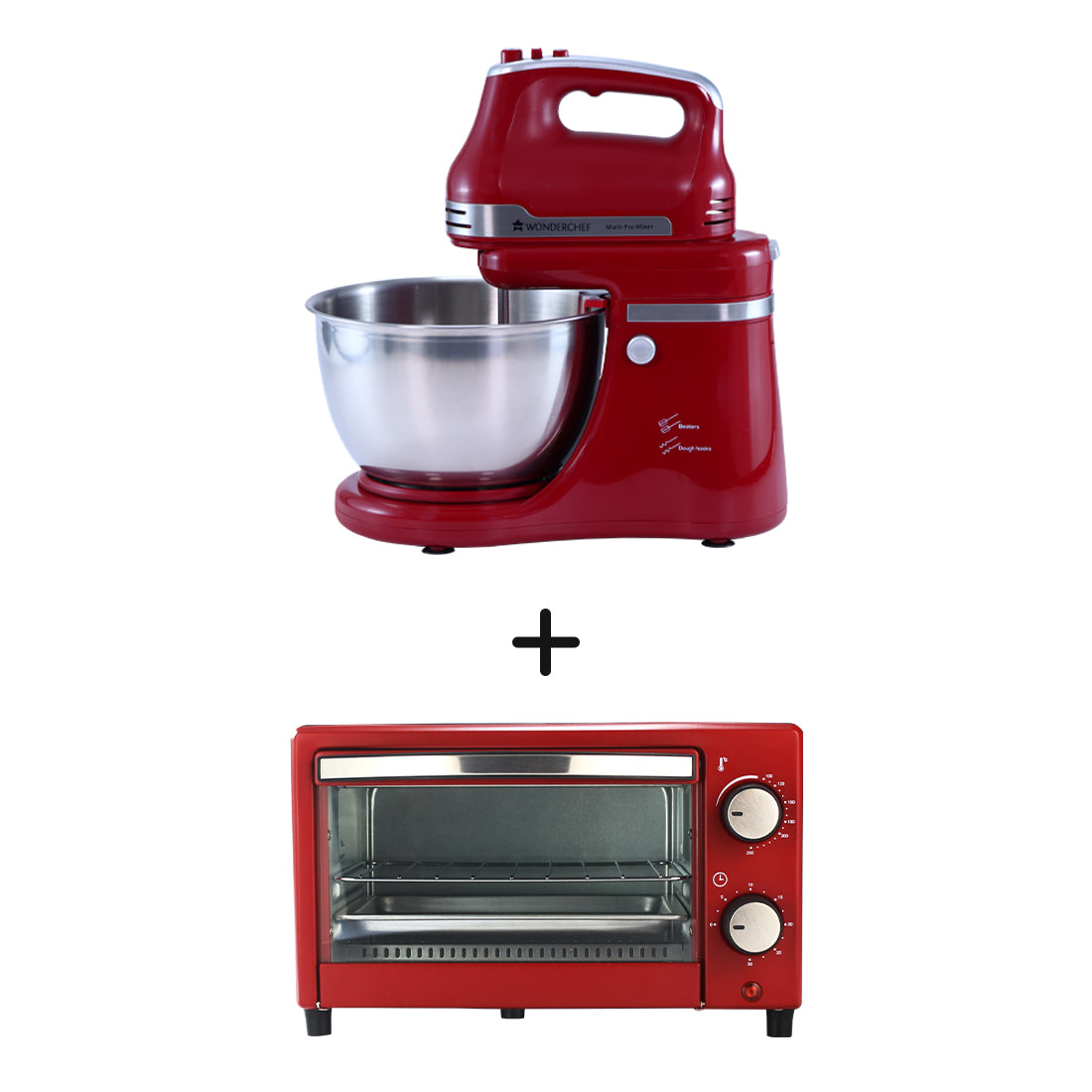 Crimson Edge Stand Mixer and Crimson Edge OTG 9 Litres