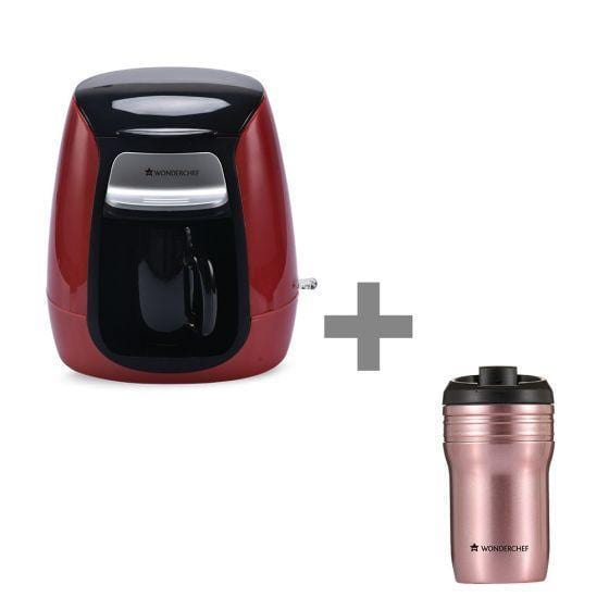 Wonderchef Compact Coffee Brewer + Coffee Mug 350Ml