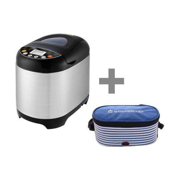 Wonderchef Regalia Bread Maker - Steel + Hot Meals Zippy