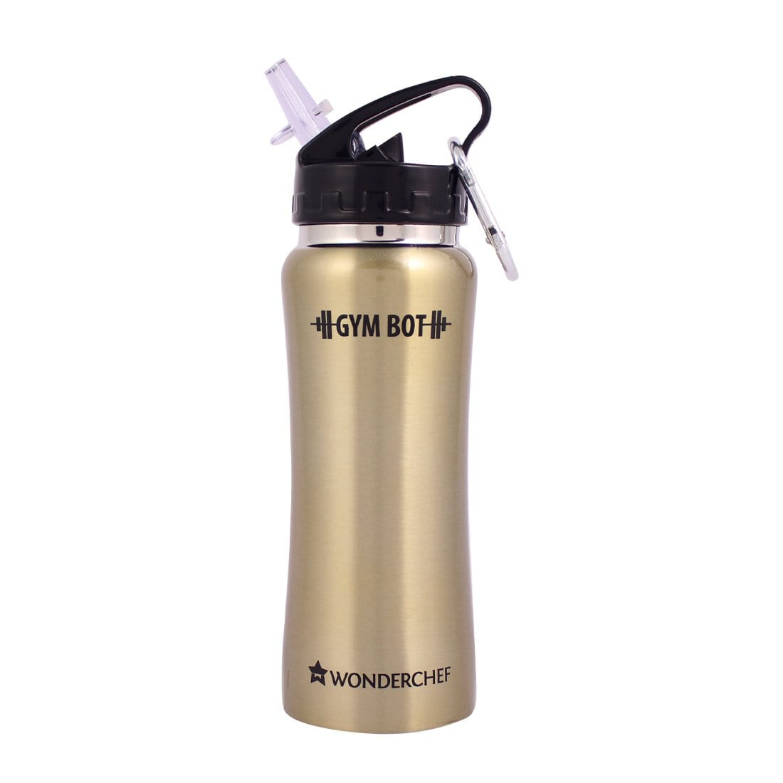 Gym-Bot Stainless Steel Single Wall Water Bottle
