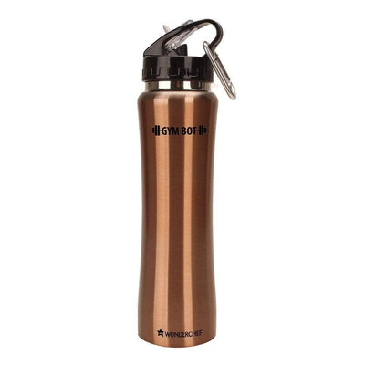 Gym-Bot Stainless Steel Single Wall Water Bottle-Flasks