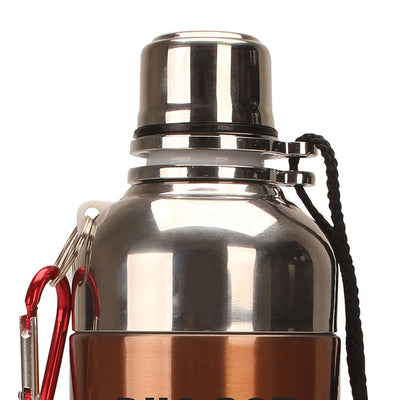 Duo-Bot Stainless Steel Single Wall Water Bottle-Flasks
