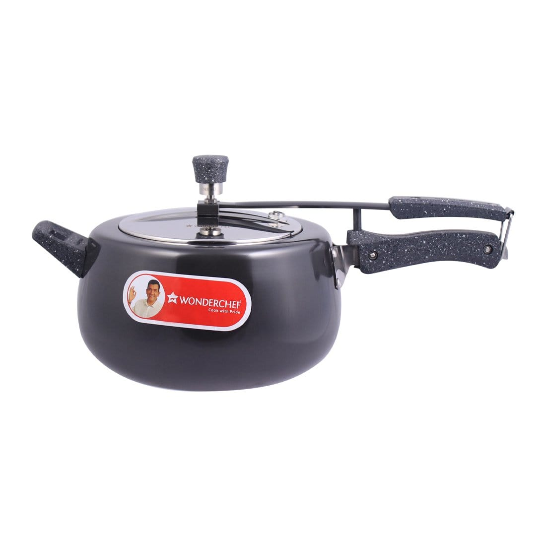 Wonderchef Taurus Hard Anodized Pressure Cooker (5 Litre)