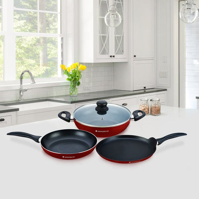 Wonderchef Topaz 4 Pc Red Set-Cookware