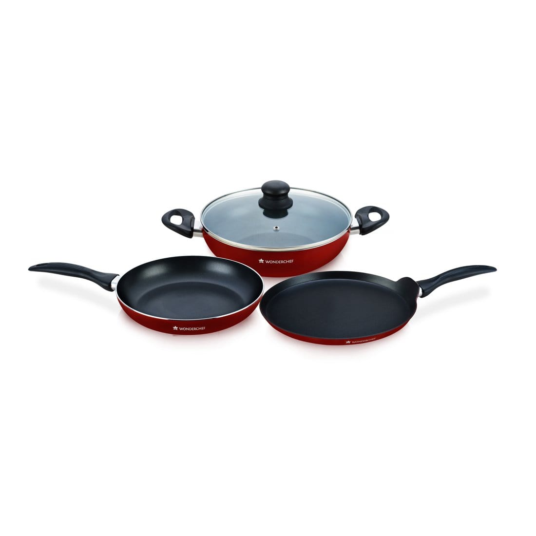 Wonderchef Topaz 4 Pc Red Set