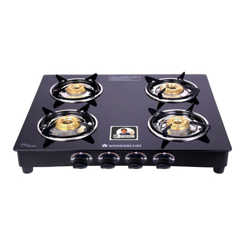 Wonderchef Ultima 4 Burner Glass Gas Stove - Wonderchef