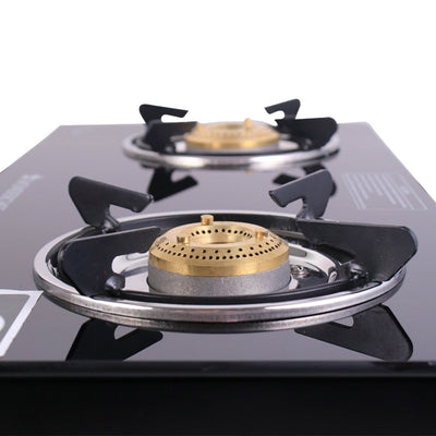 Ruby Black 2 Burner Glass Cooktop-Cooktops