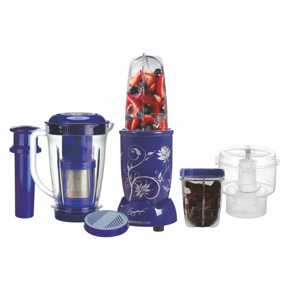 Wonderchef Nutri-Blend Complete Kitchen Machine (CKM) - (Mixer, Grinder, Juicer, And Chopper)-Blue