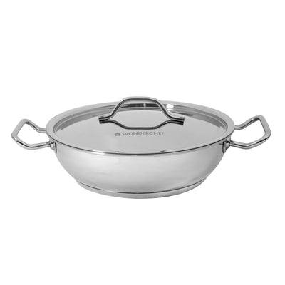 Stanton Impact Bottom Stainless Steel Kadhai with SS Lid - 20 cm,1.5L, 2.6 mm-Cookware