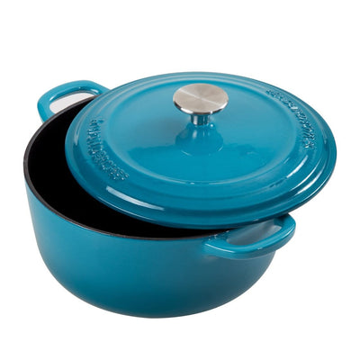 Wonderchef Ferro Cast-Iron 22Cm Casserole With Lid 2.8L - Blue-Cookware