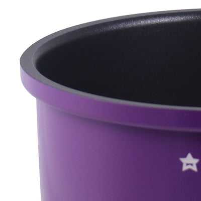 Elite Aluminium Nonstick Sauce Pan with Lid-18cm, 2L, 4mm, Purple-Cookware