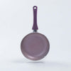 Royal Velvet Non-stick Fry Pan, Induction bottom, Soft-touch handle, Virgin grade aluminium, PFOA/Heavy metals free, 3mm, 2 years warranty, Purple-Cookware