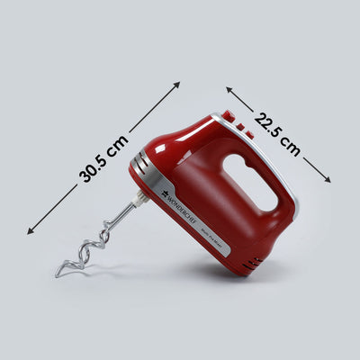 Crimson Edge Hand Mixer, 5 Speed Setting, 300W-Appliances