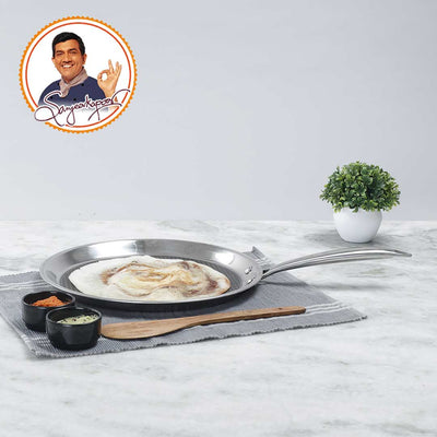 Stanton Stainless Steel Nonstick Dosa Tawa- 30cm, 2.5mm-Cookware