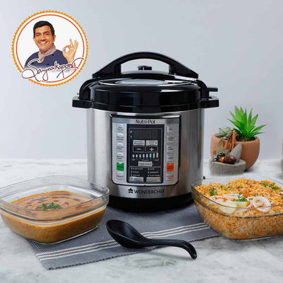 Nutri-pot Electric Pressure Cooker with 304 Stainless Steel pot, 6L-Appliances