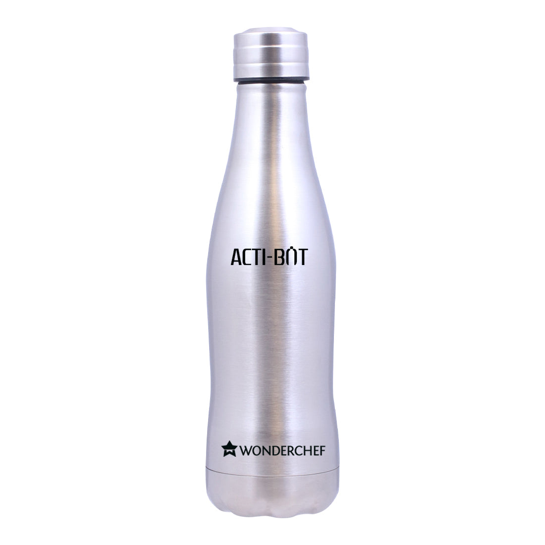 Acti-Bot Stainless Steel Single Wall Water Bottle, 900ml