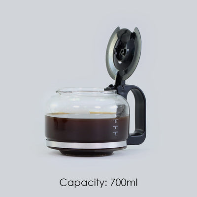Regalia Brew Coffee Maker, Makes 7 Cups Coffee, Removable Filter, with Keep Warm Plate, 2 Years Warranty, 700ml, 550W - Black-Appliances