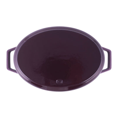 Ferro Cast-iron Oval Casserole with Lid- 29cm, 3.5mm-Cookware