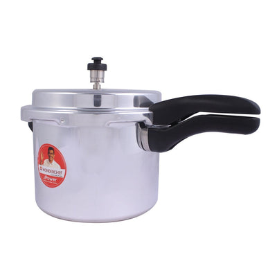 Power Induction Base Aluminium Pressure Cooker with Outer Lid, 5L-Cookers