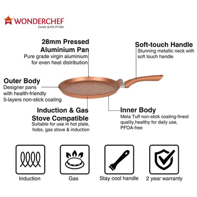 Wonderchef Romano Set - Bronze-Cookware