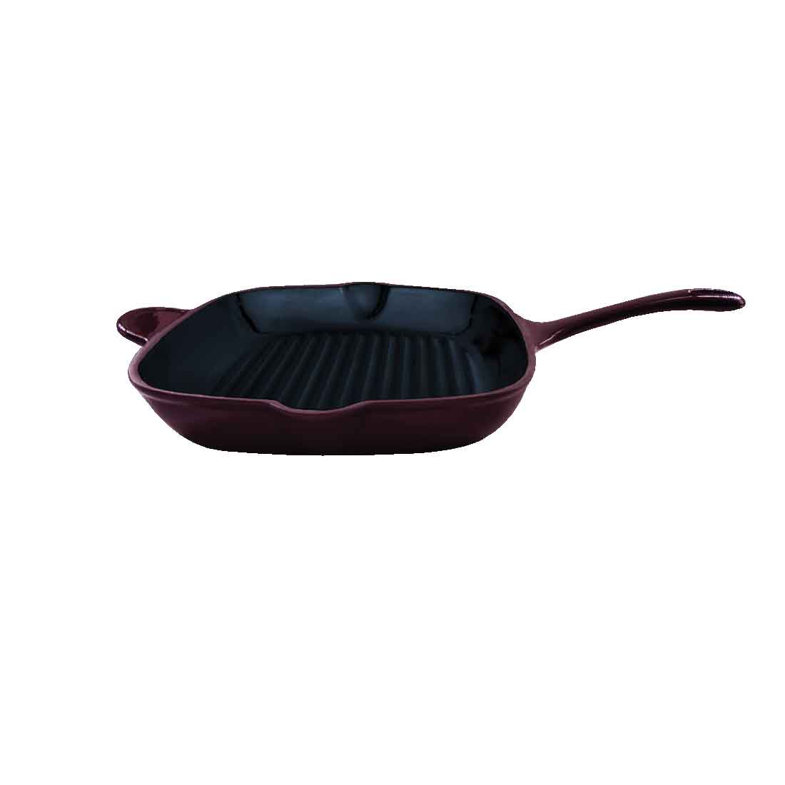 Ferro Cast-Iron Grill Pan - 29.5cm, 2.6L, 4.5mm, Majolica Red