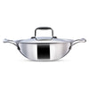 Wonderchef Nigella 3-Ply Stainless Steel Kadhai 24cm