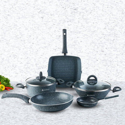 Wonderchef Grand Granite Set 7 Pc Set