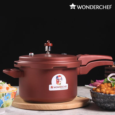 Wonderchef Health Guard Pressure Cooker Outer Lid 5L - Maroon