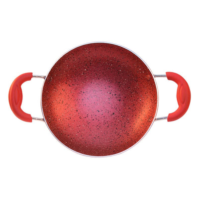Appachetty With Lid Crimson, 3mm, Red-Cookware