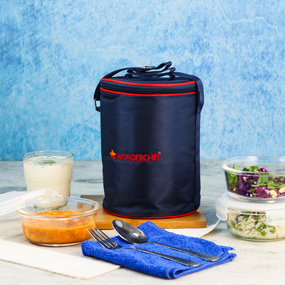 Nutri-Meal Lunch Box With Bag and 3 Container-Kitchen Accessories