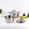 Nigella 3-ply Stainless Steel Casserole- 24cm, 4.8L, 2.6mm-Cookware
