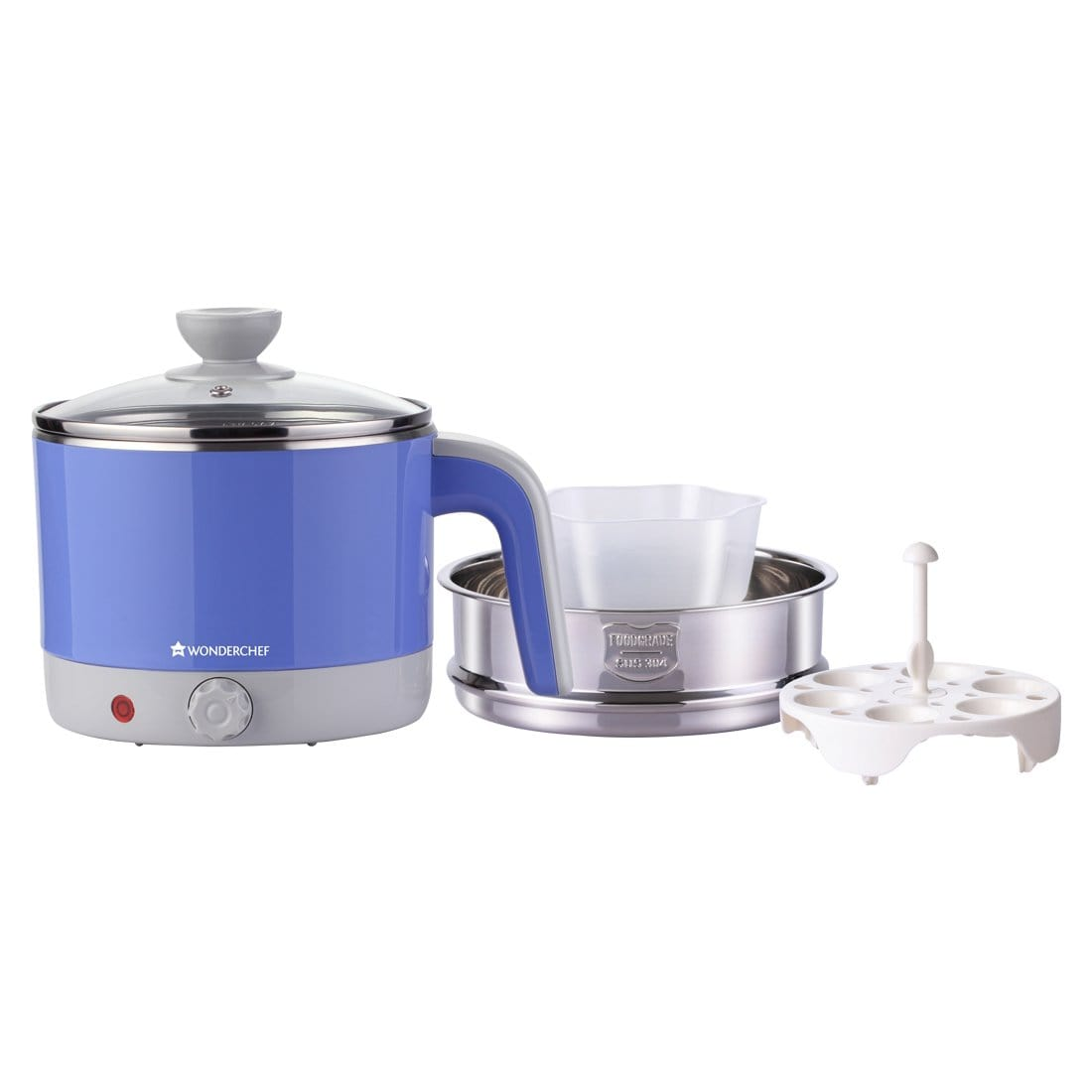 Wonderchef Luxe Multicook Kettle Blue 1.2 Litre-Appliances