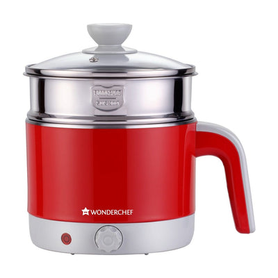 Wonderchef Luxe Multicook Kettle Red 1.2 Litre-Appliances
