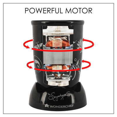 Wonderchef Nutri-Blend Compact FP (Mixer, Grinder, Chopper, Food Processor), 4 Jars-Appliances