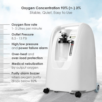 Oxygen Concentrator - 5 Litres (Medical Supply Equipment)-Health-Gear