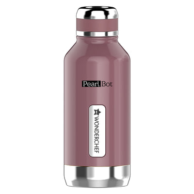 Pearl-Bot Stainless Steel Single Wall Water Bottle, Rose Pearl, 500ml-Flasks