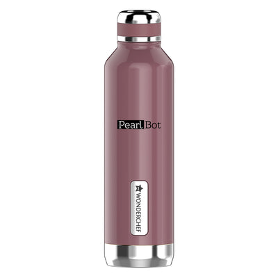 Pearl-Bot Stainless Steel  Single Wall Water Bottle, Rose Pearl, 750ml-Flasks