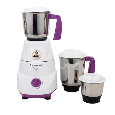 Victor Classic 500W Mixer Grinder With 3 Jars (White & Purple)-Appliances