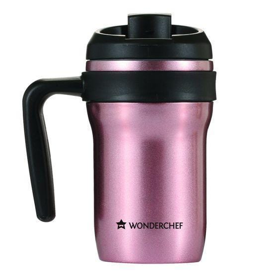 Stainless Steel Hot and Cold Coffee Mug With Handle 350Ml, Rose Champagne