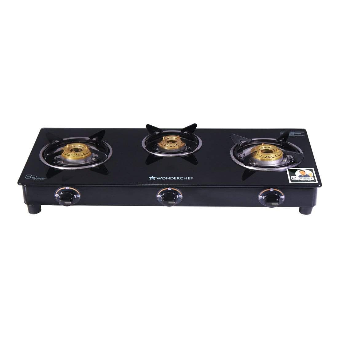 Wonderchef Power 3 Burner Glass Cooktop