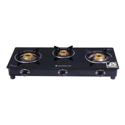 Wonderchef Cookware Wonderchef  Power 3 Burner Glass Cooktop