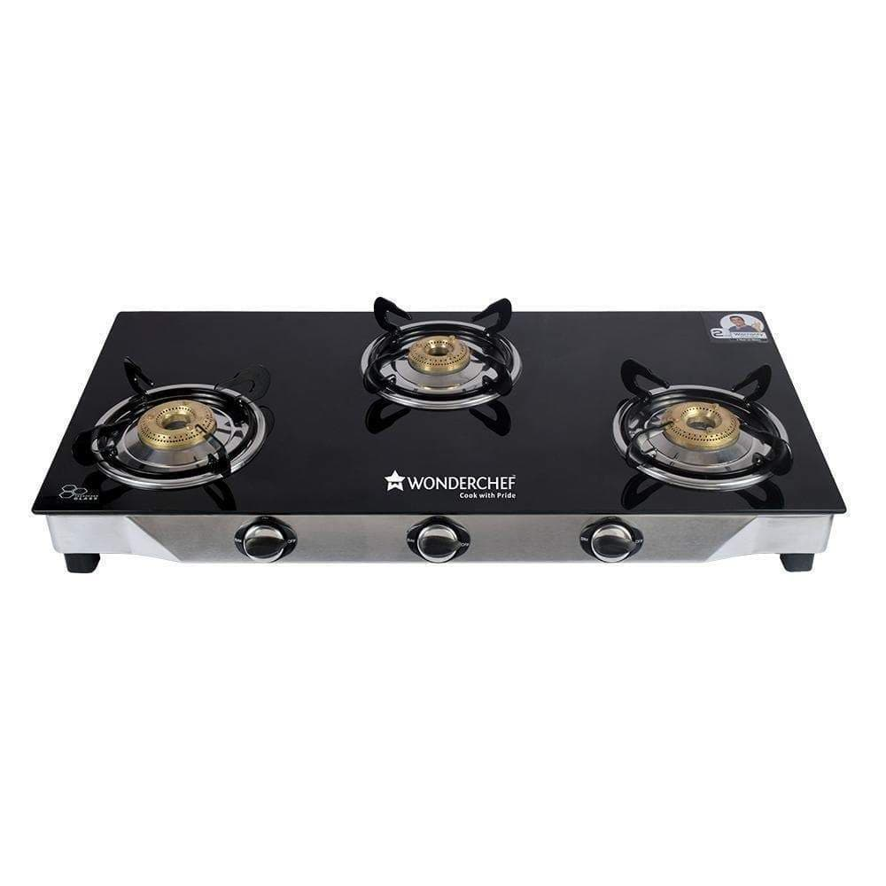 Wonderchef Ruby Glass Cooktop (3 Burner)