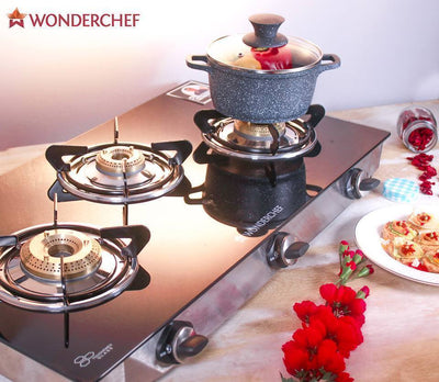 Wonderchef Cookware Wonderchef Ruby Glass Cooktop (3 Burner)