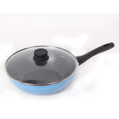 Wonderchef Sapphire Forged 28Cm Wok With Lid-Cookware