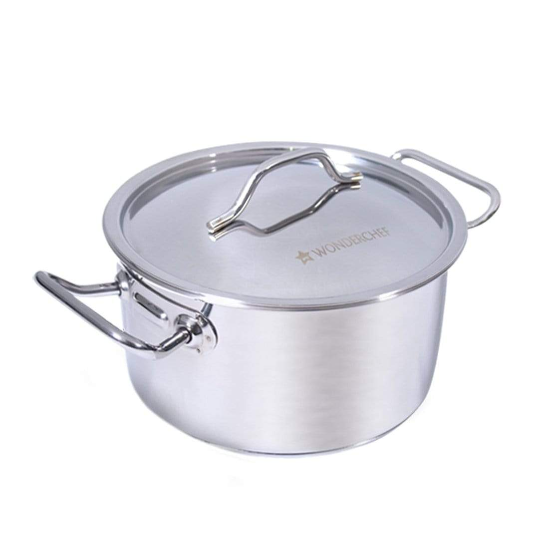 Stanton Stainless Steel Casserole with SS Lid- 20cm, 3.5L,  0.6mm