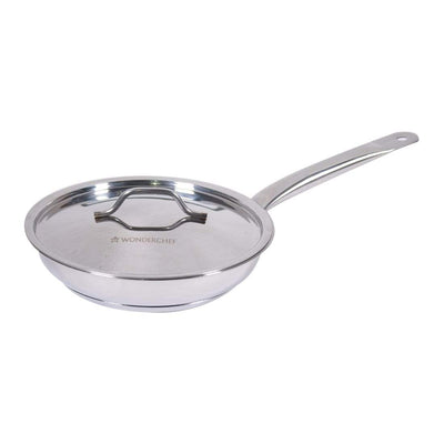 Wonderchef Stanton Fry Pan with SS Lid-24 cm-Cookware