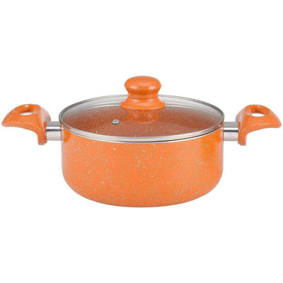 Wonderchef Tangerine Casserole With Lid 20Cm-Cookware