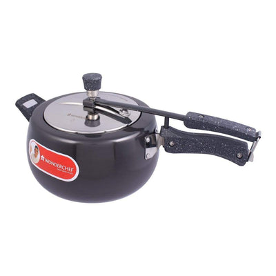 Taurus Induction Base Hard Anodized Pressure Cooker with Inner Lid, 5L, Black-Cookers